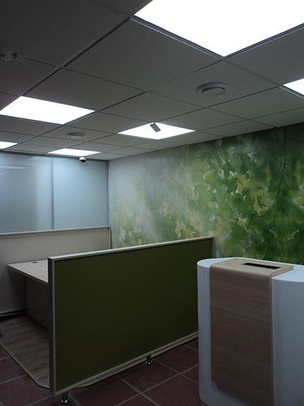 Освещение банка - потолок