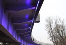 Съезд на остров Октябрьский в Калининграде осветили светодиодными светильниками «ФЕРЕКС»