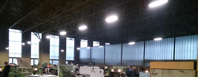 Освещение завода в Витебской области
